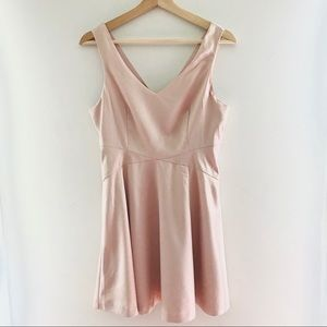 👑2/$20 F21 Pale Pink summer Dress size S
